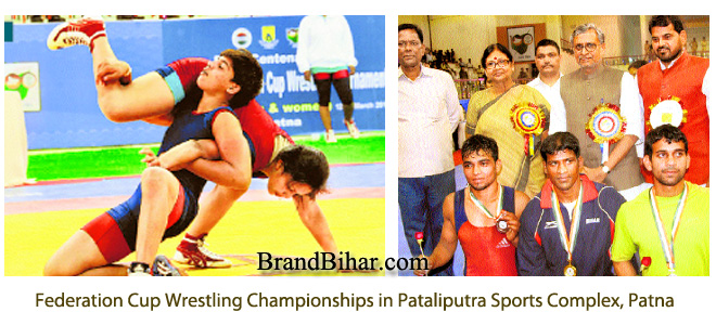 Federation Cup Wrestling Championships in Pataliputra Sports Complex, Patna